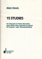 Davis, Alan - 15 Studien für Sopran- oder Tenorflöte -