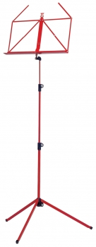 Retractable Music Stand, red metal