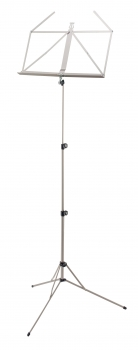 Retractable Music Stand, nickel-plated