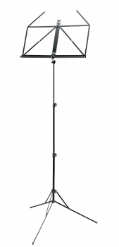 Retractable Music Stand, black metal
