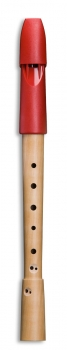 Sopranflöte Mollenhauer 1074 Prima, Birnbaum/Kunststoff, barocke Griffweise