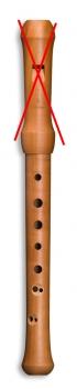 Separates Unterteil (diatonisch) WACM19142 für Sopranblockflöte Mollenhauer, barocke Griffweise