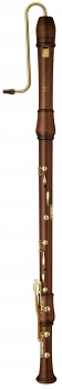 great bass recorder Moeck 2621 Flauto Rondo, maple stained