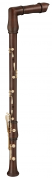 great bass recorder Moeck 2641 Flauto Rondo, bent neck, maple stained