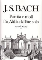 Bach, Johann Sebastian - Partita c-moll BWV 1013 - Altblockflöte solo