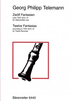 Telemann, Georg Philipp - 12 Fantasien - Altblockflöte Solo