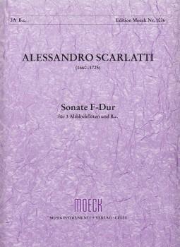 Scarlatti, Alessandro - Sonata F-dur - 3 Altblockflöten und Bc.