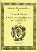 Bassano, Giovanni - Ricercate / Passaggi et Cadentie 1585 - Altblockflöte solo