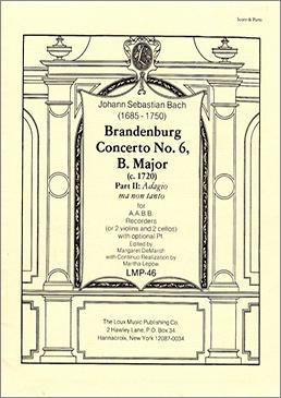Bach, Johann Sebastian - Brandenburgisches Konzert Nr. 6 - 2. Satz AABB (Partitur)