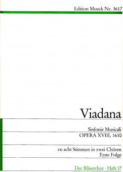 Viadana, Ludovico - Sinfonie Musicali - SATB + SATB