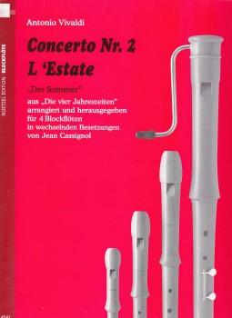 Vivaldi, Antonio - Concerto Nr. 2  L'Estate - ATTB / ATBB