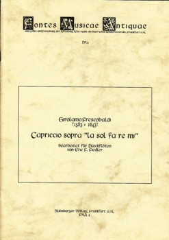 Frescobaldi, Girolamo - Capriccio sopra La Sol Fa Re Mi -