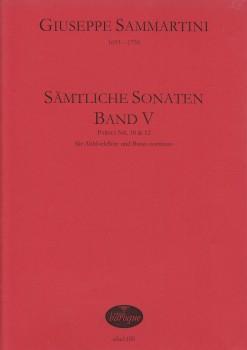 Sammartini, Giuseppe - Sämtliche Sonaten, Band V - Altblockflöte und Basso continuo
