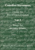 Comedian Harmonists - Lieder für Blockflöten-Quartett Vol.3 - AATB