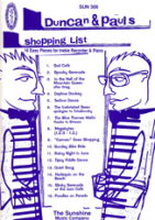 Reid, Duncan/Carr, Paul - Duncan & Pauls Shopping List - Altblockflöte und Klavier