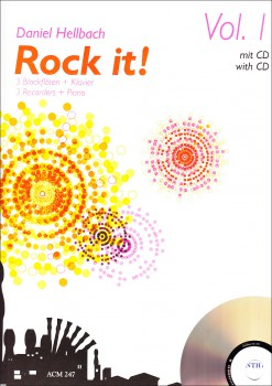 Hellbach, Daniel - Rock it! Vol.1 - 3 Blockflöten und Klavier + CD