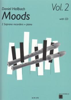 Hellbach, Daniel - Moods Vol. 2 - 2 soprano recorders, Piano + CD
