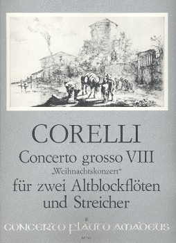 Corelli, Arcangelo - Concerto for christmas g-minor - 2 treble recorders, strings and Bc.
