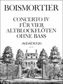 Boismortier, Joseph Bodin de - Concerto IV d-moll - AAAA