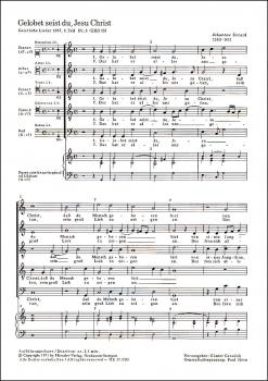 Eccard, Johannes - Gelobet seist du, Jesu Christ  - Blockflötenquintett  SATTB