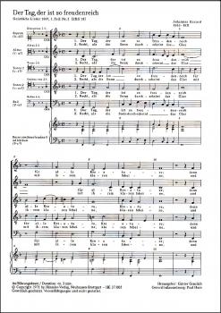 Eccard, Johannes - Der Tag, der ist so freudenreich  -Blockflötenquintett  SATTB