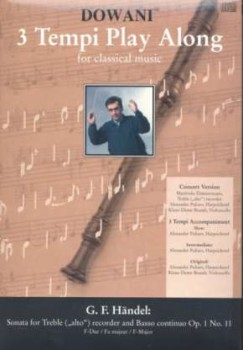 Händel, Georg Friedrich - Sonate op. 1 Nr. 11  F-dur - Altblockflöte + CD
