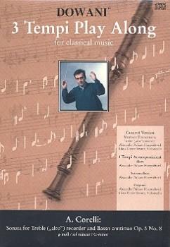 Corelli, Arcangelo - Sonate g-moll op. 5 Nr. 8  - Altblockflöte + CD