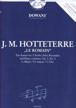 Hotteterre, Jaques Martin - Triosonate  op. 3 Nr. 5 C-dur - 2 Altblockflöten und Bc. + CD