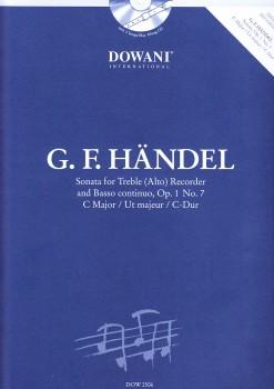 Händel, Georg Friedrich - Sonate op.1 Nr. 7 C-dur - Altblockflöte und Bc. + CD