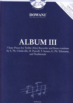 Album III - Sieben leichte Stücke Altblockflöte und Bc. + CD