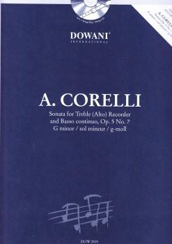 Corelli, Arcangelo - Sonate op. 5 Nr. 7 g-moll - Altblockflöte und Bc. + CD