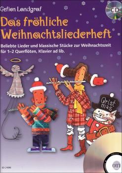 Das fröhliche Weihnachtsliederheft - Zwei Altblockflöten, Klavier  + CD