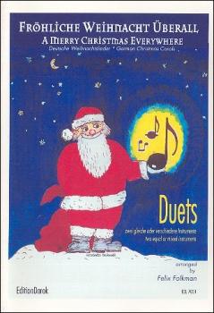 Fröhliche Weihnacht überall - 1 - 2 Sopranblockflöten