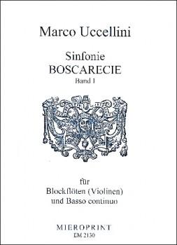 Uccellini, Marco - Sinfonie Boscarecie -  Band 1 - 1-3 Blockflöten und Bc