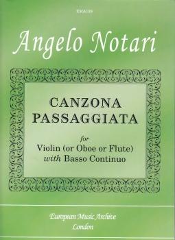 Notari, Angelo - Canzona Passagiata - Sopranblockflöte und Basso continuo