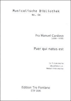 Cardoso, Manuel - Puer qui natus est - Blockflötenquintett  ATTTB