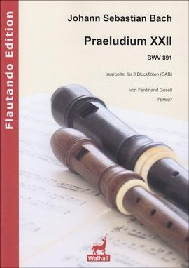 Bach, Johann Sebastian - Praeludium XXII - SAB