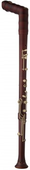 great bass recorder Kueng 2722 Superio, bend neck, maple stained