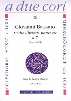 Bassano, Giovanni - Hodie Christus natus est - Blockflötenquartett SSA + SATB