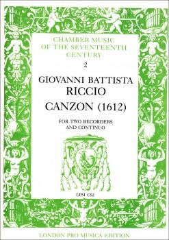 Riccio, Giovanni Battista - Canzon  - 2 Sopranblockflöten und Bc.