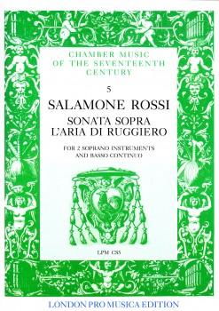 Rossi, Salamone - Sonata sopra 'aria di Ruggiero - 2 Sopranblockflöten und Bc.