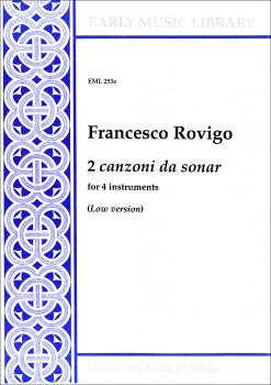 Rovigo, Francesco - 2 Canzoni da sonar - ATTB