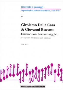 """Dalla Casa / Bassano - Divisions on """"Susannne ung jour""""  - Sopranblockflöte und Basso continuo"""