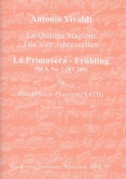"""Vivaldi, Antonio - Concerto Op. 8, 1 """"La Primavera - Frühling""""  RV 269  - SATB"""