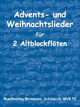Advents- und Weihnachtslieder - 2 Altblockflöten