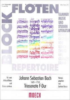 Bach, Johann Sebastian - Triosonate F-dur nach BWV 1028 - 2 Altblockflöten und Bc.