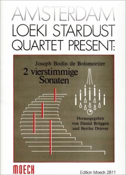 Boismortier, Joseph Bodin de - Zwei vierstimmige Sonaten -  AAAB oder ATTB