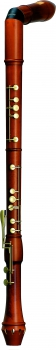 great bass recorder Mollenhauer 2646K Canta, bend neck, pearwood