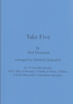 Desmond, Paul - Take Five - Blockflötenorchester