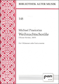 Praetorius, Michael - Weihnachtschoräle - Blockflötenquartett  SATB